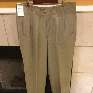 NWT Claiborne Pleated and Cuffed Pants  34x34